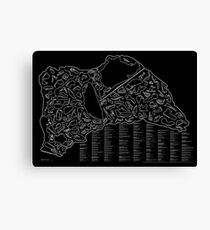 Race Tracks to Scale (Inverted) Canvas Print