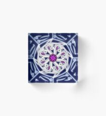 Arabic Calligraphy Mandala - the Moon  Acrylic Block