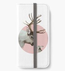 reindeer and rabbit iPhone Wallet/Case/Skin