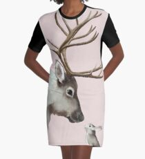 reindeer and rabbit Graphic T-Shirt Dress