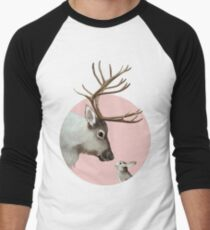 reindeer and rabbit Baseball ¾ Sleeve T-Shirt