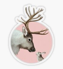 reindeer and rabbit Transparent Sticker