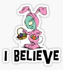 "Funny Easter ""I Beleive"" Sticker"