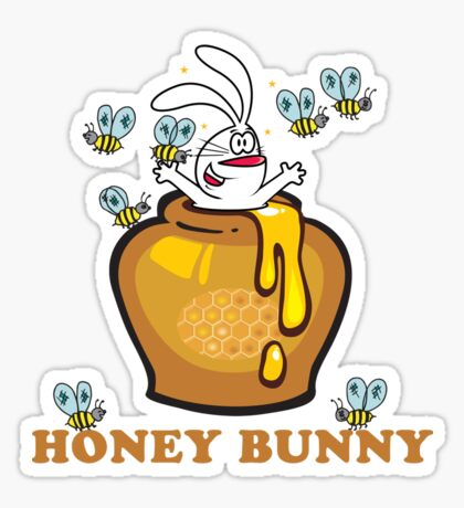 "Easter ""Honey Bunny"" Sticker"