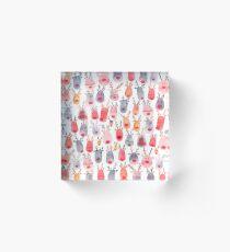 Reindeers - Animal mignon - Aquarelle d'hiver - Rudolph Bloc acrylique