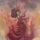 Elemental Witch - Fire by Jen Hallbrown