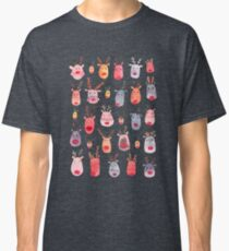 Reindeers - Animal cuteness - Winter watercolor pattern - Rudolph Classic T-Shirt