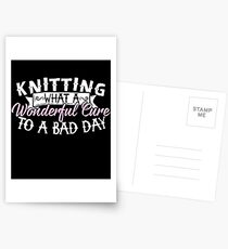 Knitting What A Wonderful Cure Postcards