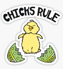 Easter Chicks Rule Sticker