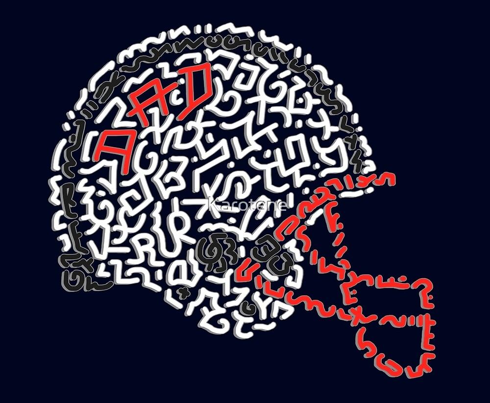 American Football Helmet by Karotene