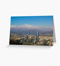 an awesome Chile landscape Greeting Card
