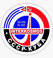 Interkosmos (Интеркосмос) 1980 Logo Sticker
