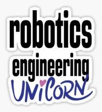 Robotics Engineering Unicorn Sticker