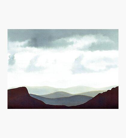 Montagnes Orage Impression photo