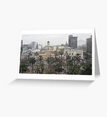 a sprawling Chile landscape Greeting Card