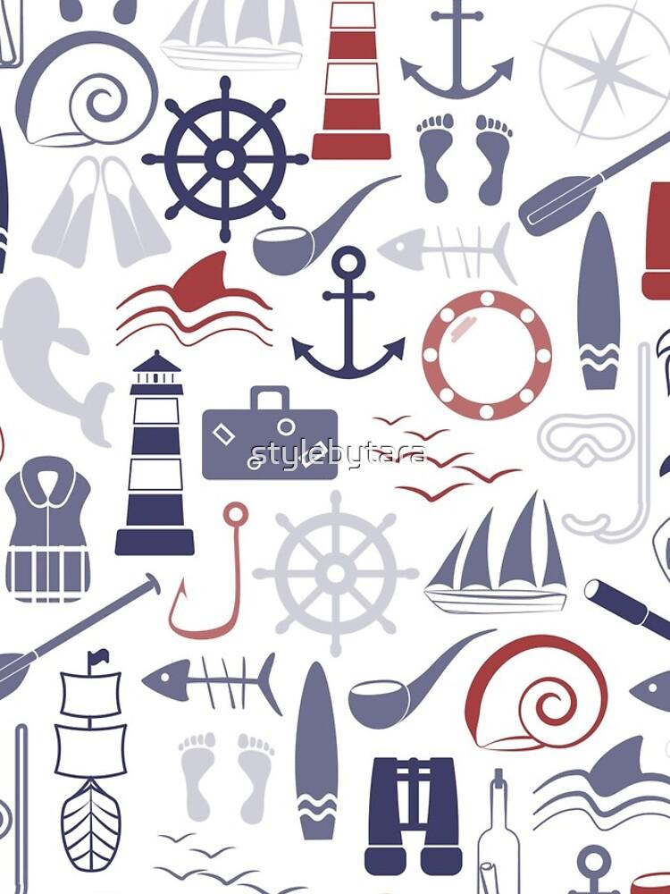 Trendy Maritime Pattern by stylebytara