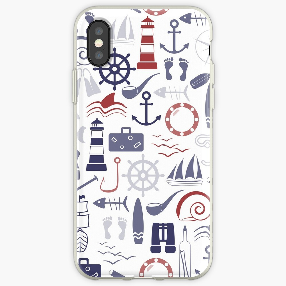 Trendy Maritime Pattern iPhone Case & Cover