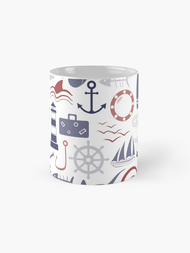Alternate view of Trendy Maritime Pattern Mug