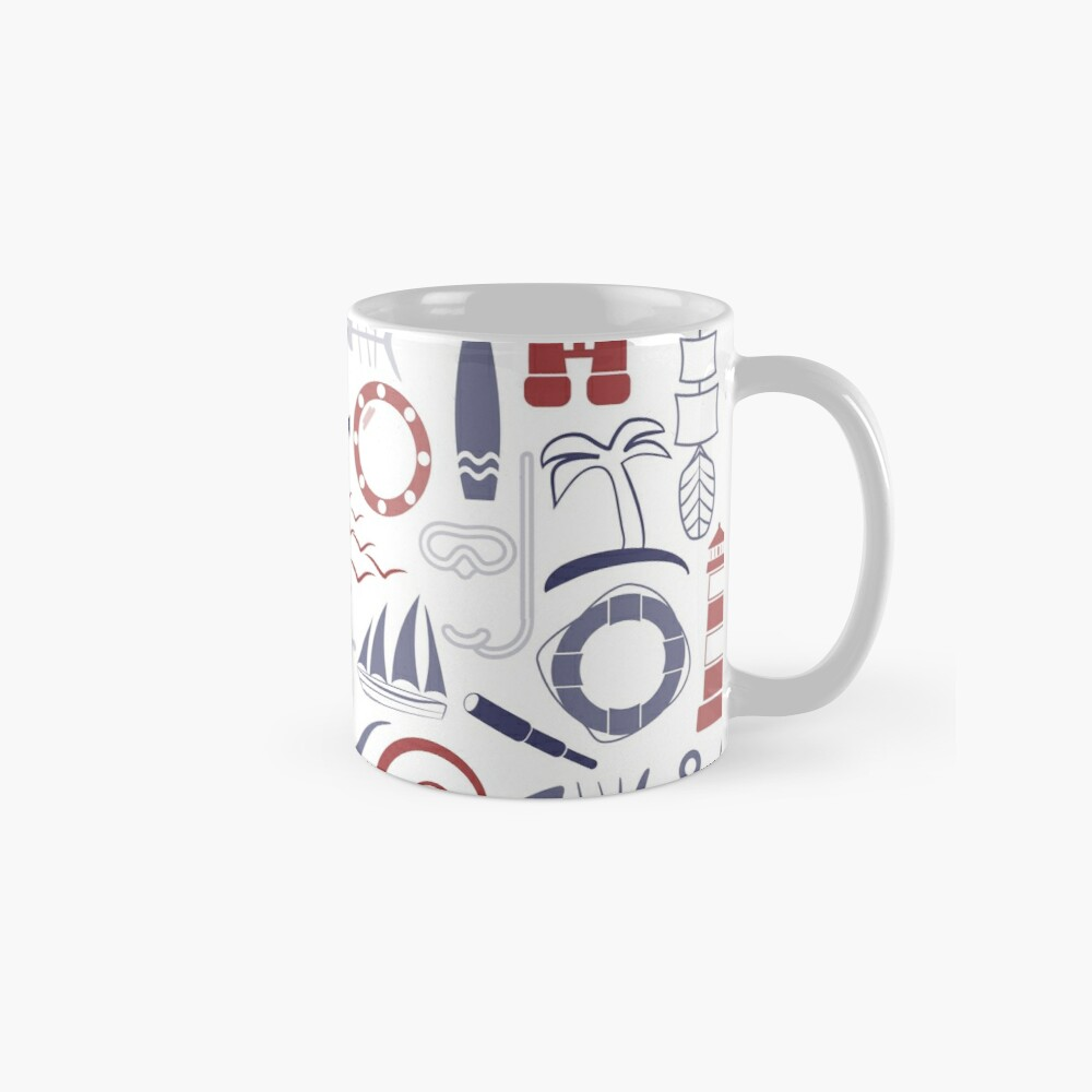 Trendy Maritime Pattern Mug