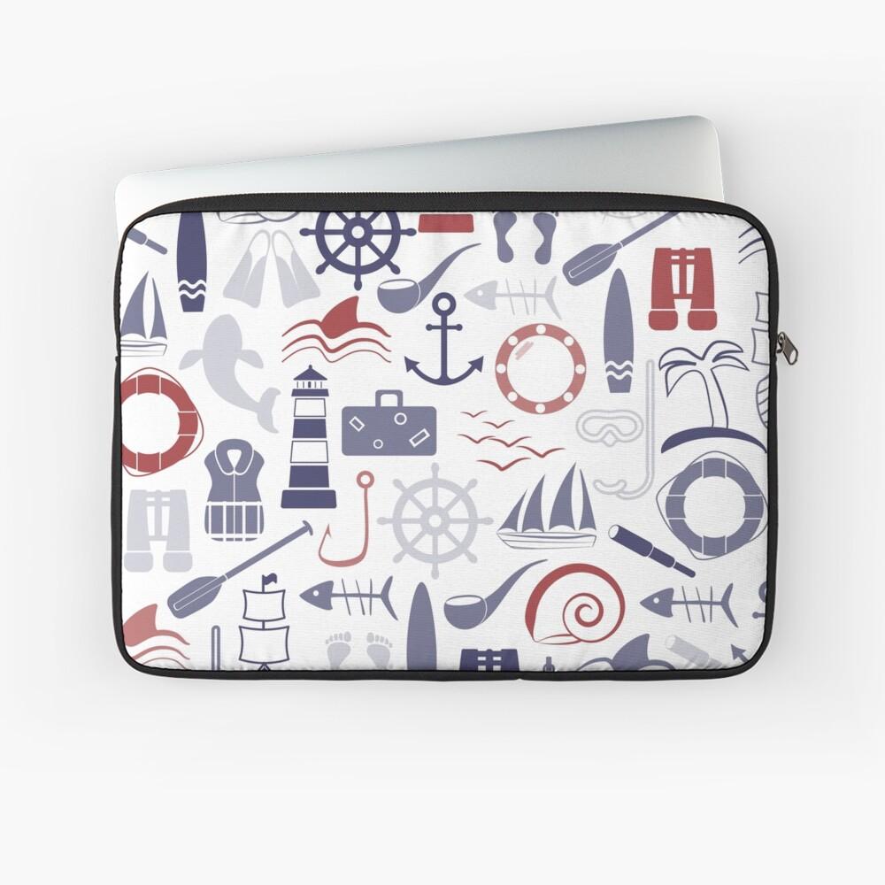 Trendy Maritime Pattern Laptop Sleeve