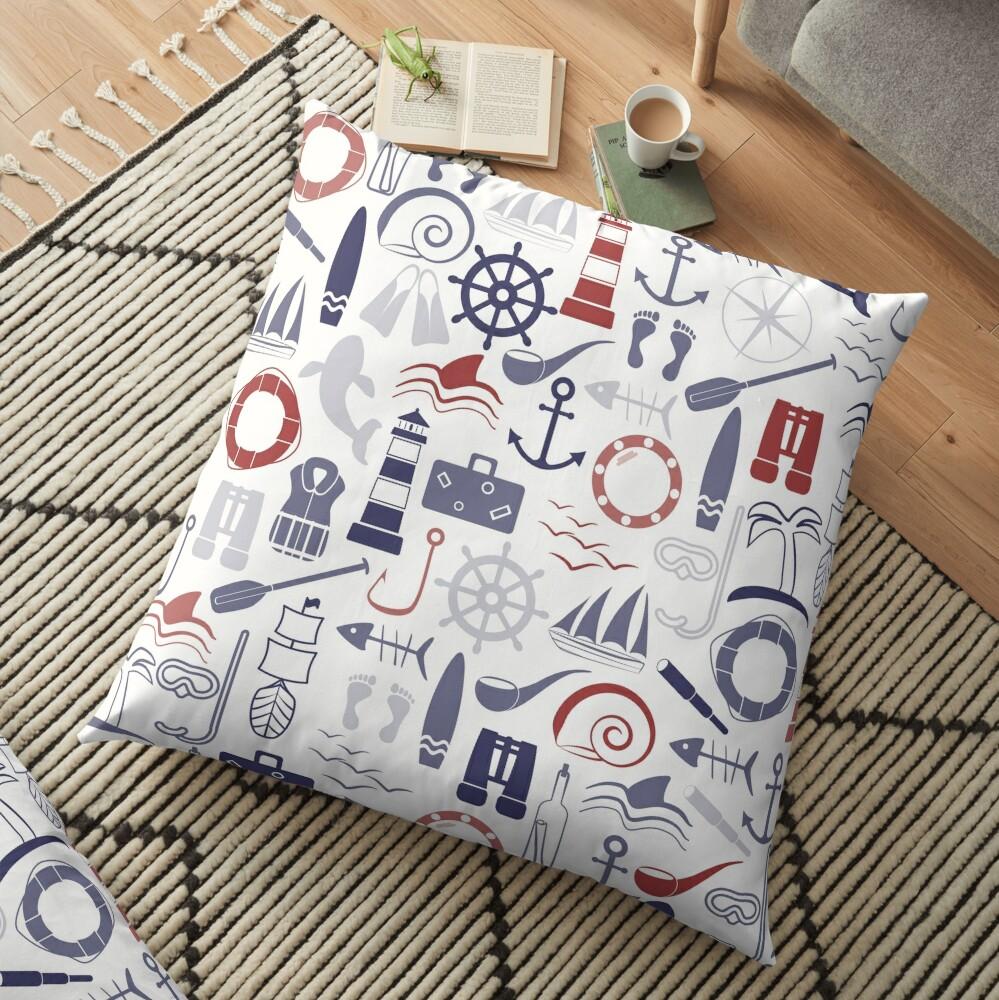 Trendy Maritime Pattern Floor Pillow