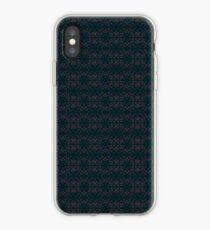 Dark subtle wheat pattern iPhone Case