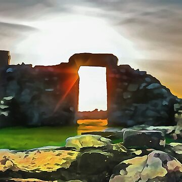 Nendrum Monastery, Ireland. (Painting.) by cmphotographs