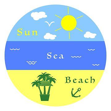 Sun, sea, beach, anchor, palms, bar. by aquamarine-p