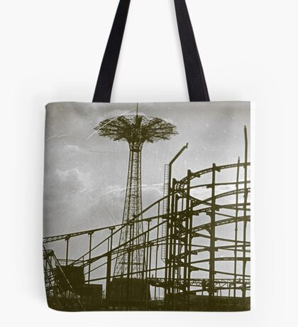 Coney Island Thunderbolt Ride and Parachute Jump Tote Bag