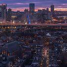 Sunset on Charlestown, Boston by mattmacpherson