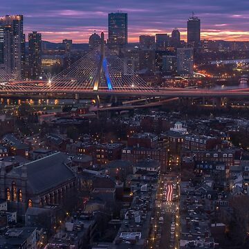 Sunset on Charlestown, Boston by mattmacpherson