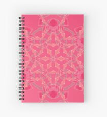 Red Over Twist Fall Into Winter Design Collection of Green Bee Mee Spiral Notebook
