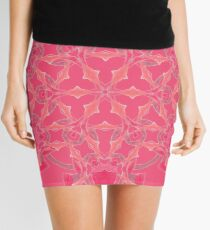 Red Over Twist Fall Into Winter Design Collection of Green Bee Mee Mini Skirt