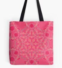Red Over Twist Fall Into Winter Design Collection of Green Bee Mee Tote Bag