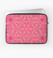 Red Over Twist Fall Into Winter Design Collection of Green Bee Mee Laptop Sleeve