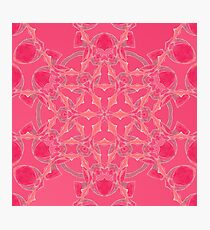 Red Over Twist Fall Into Winter Design Collection of Green Bee Mee Photographic Print