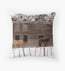 The Old Barn - Barnhartvale, BC Throw Pillow