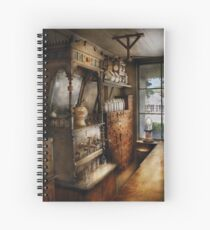 Americana - Turn of the century soda fountain Spiral Notebook