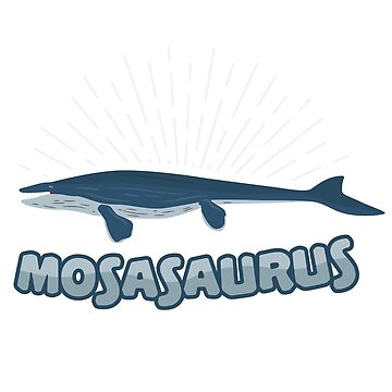 Mosasaurus Primeval Dinosaur Monster Fish Extinct Huge carnivore gift by ArtOfCopenhagen