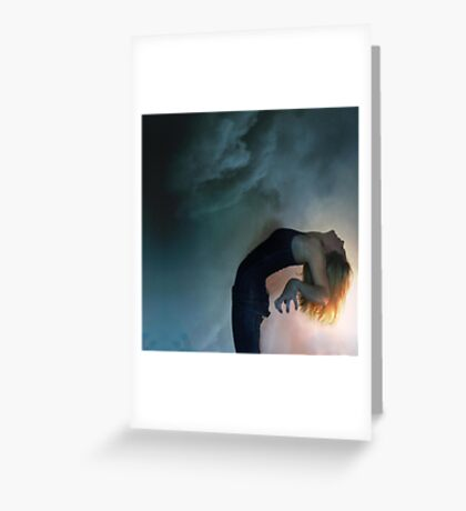 the storm against the light Greeting Card