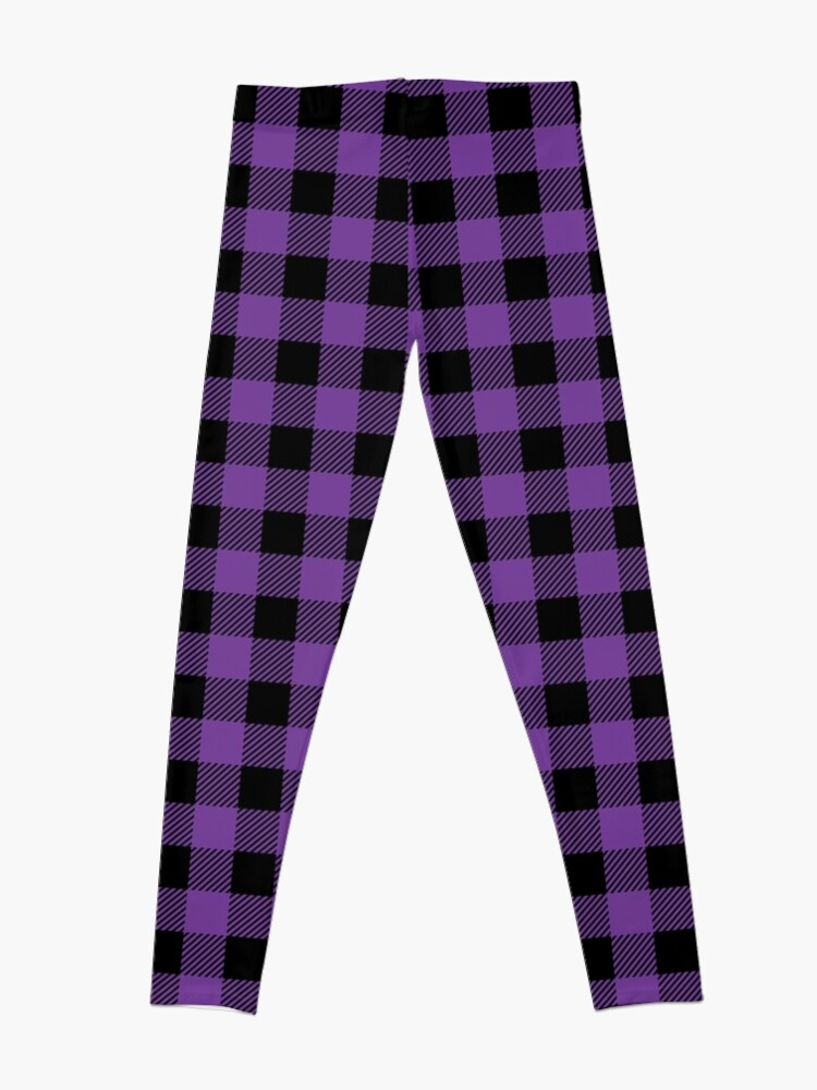 Alternate view of Plaid (purple/black) Leggings