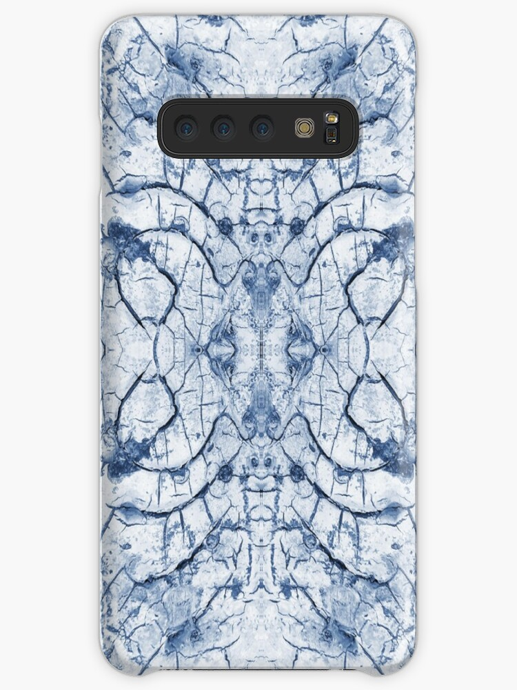 Quot Cracked Paint Blue Quot Case Amp Skin For Samsung Galaxy By