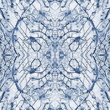 CRACKED PAINT, Blue by TOMSREDBUBBLE