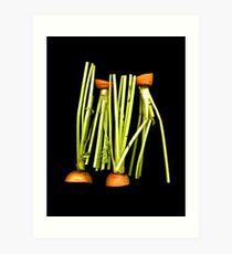 Carrot stems Art Print