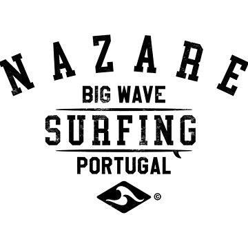 NAZARE BIG WAVE SURFING DESIGN by SUBGIRL