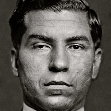 MOBSTERS, Mugshot of Mobster Lucky Luciano in 1936 by TOMSREDBUBBLE