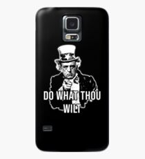 Aleister Crowley Uncle Sam Do What Thou Wilt  Case/Skin for Samsung Galaxy