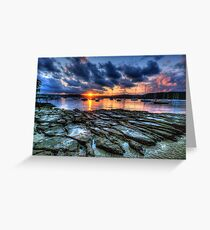 Sunset On The Rocks - Paradise Beach, Sydney  The HDR Experience Greeting Card