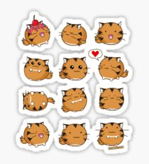Fuzzballs Kawaii Tiger Sticker