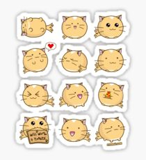 Fuzzballs Kawaii Cat! Sticker